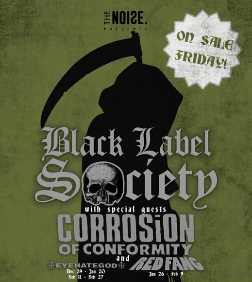 Black Label Society, Corrosion of Conformity & Red Fang at The Rave Eagles Club