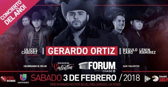 Gerardo Ortiz, Regulo Caro & Ulices Chaidez at The Rave Eagles Club