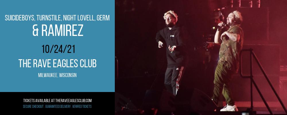 Suicideboys, Turnstile, Night Lovell, Germ & Ramirez at The Rave Eagles Club